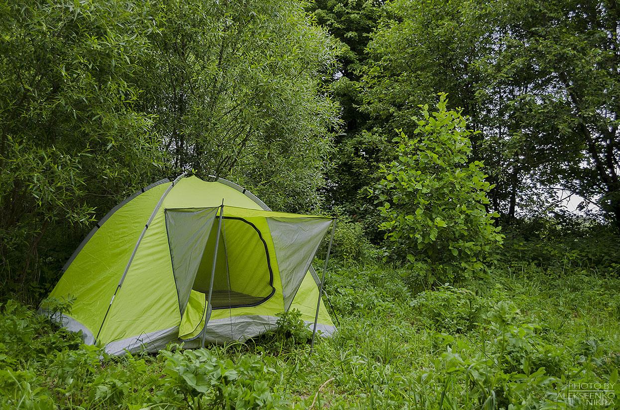 пикник с палаткой рыбалка